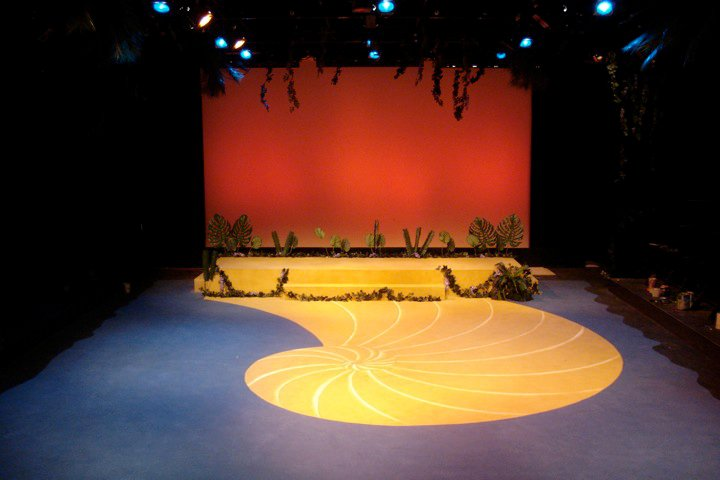 Once On This Island Set in Gordon Wilson Lab Theatre
