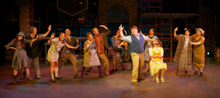 Robert Sharkey & Company in Urinetown, Fall 2012