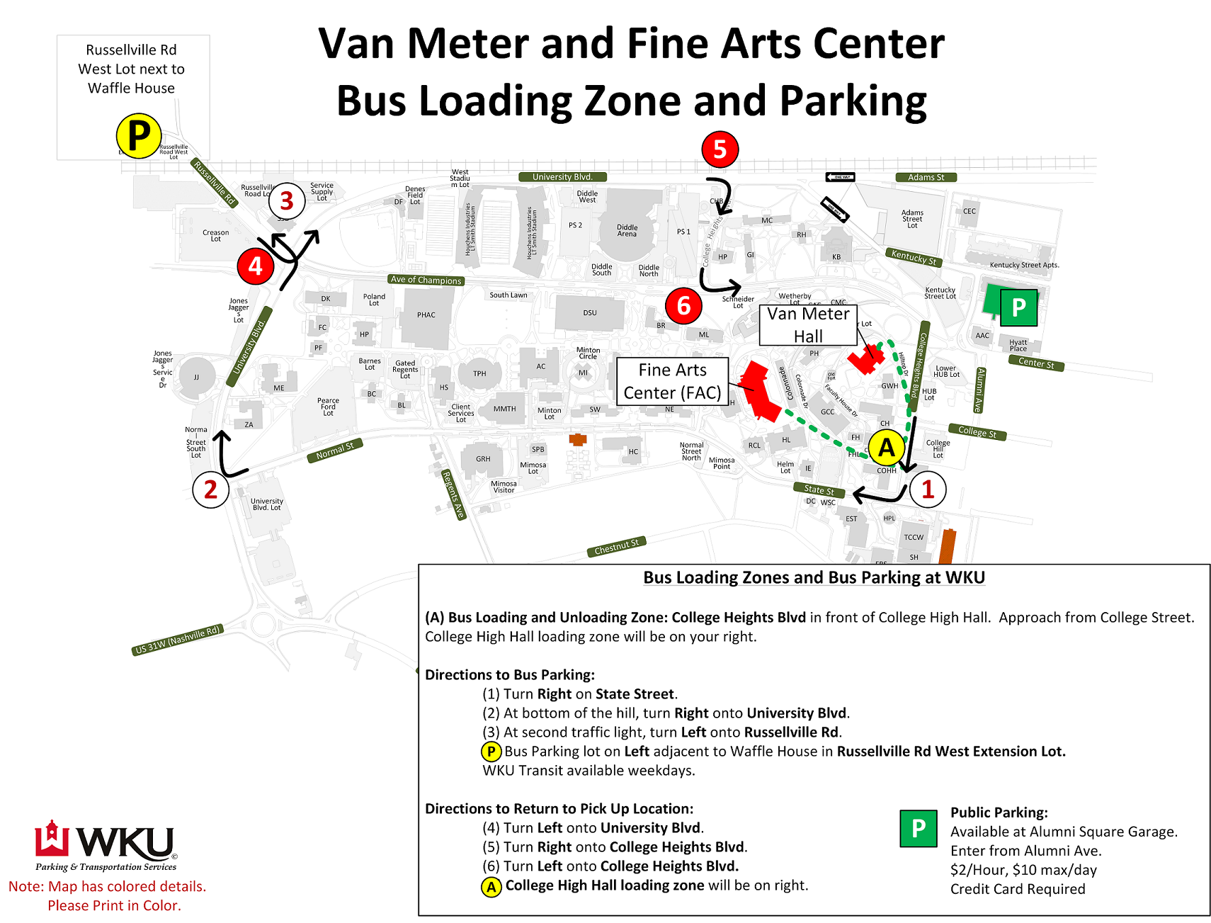 map of parking for events