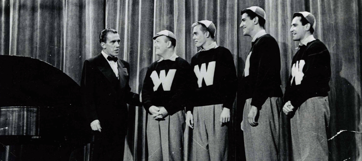 "The Hilltopper's national television debut, Ed Sullivan's ""Toast of the Town,"" Oct. 26, 1952"