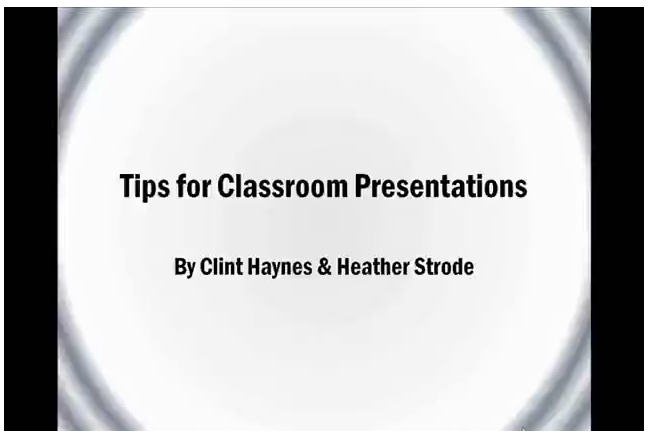 Tips for Presentations Video