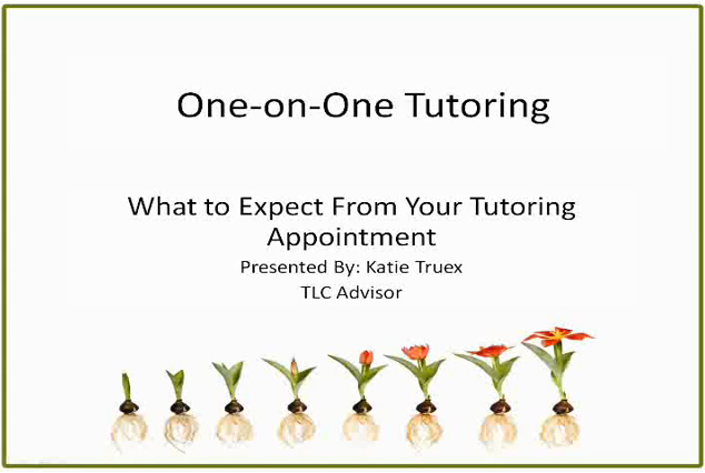One on One Tutoring Video