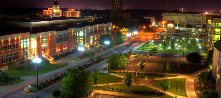 A view of DSU at night!