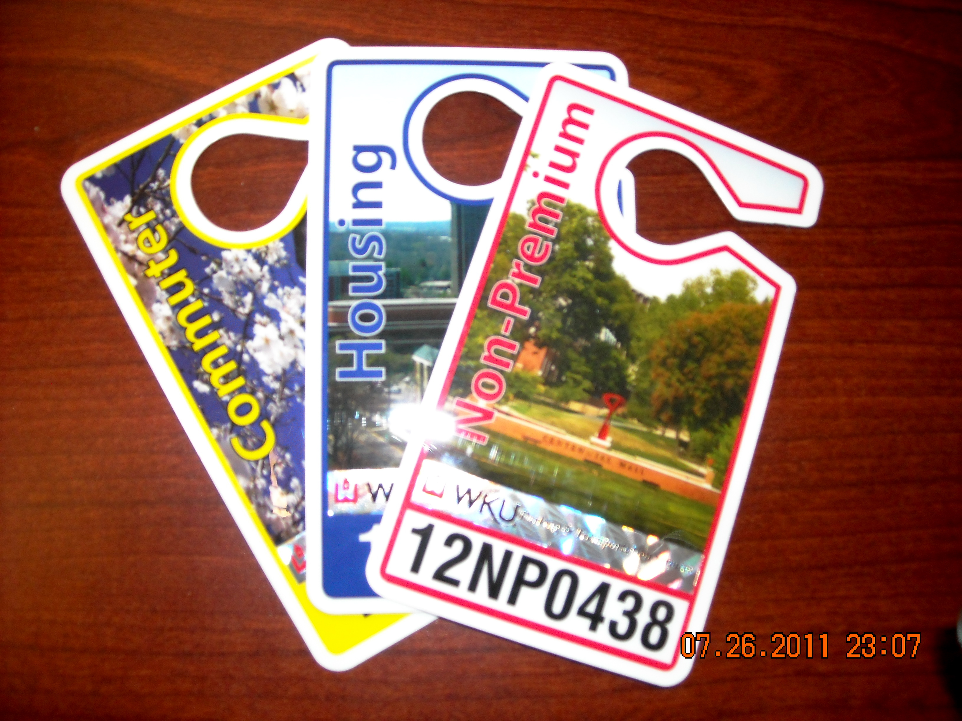 Sampe of 3 parking permits