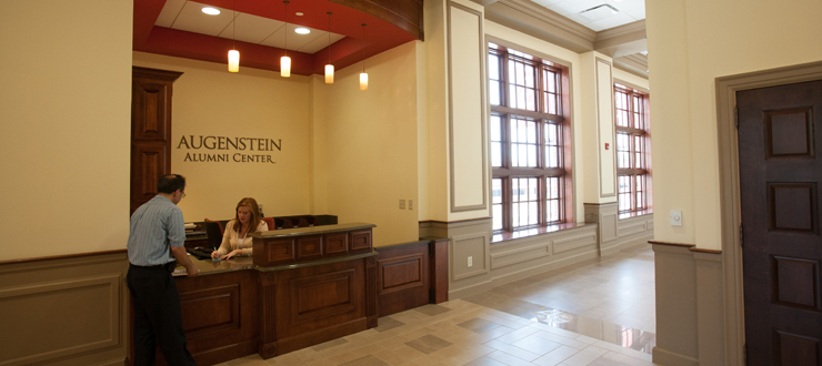 Visit the reception desk to obtain information including campus maps, parking passes, tour information and more.