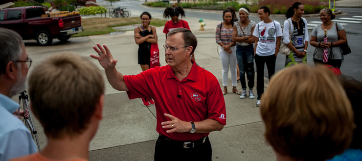 President Dr. Gary A. Ransdell led a special campus tour this summer. You never know who you'll run into at WKU!