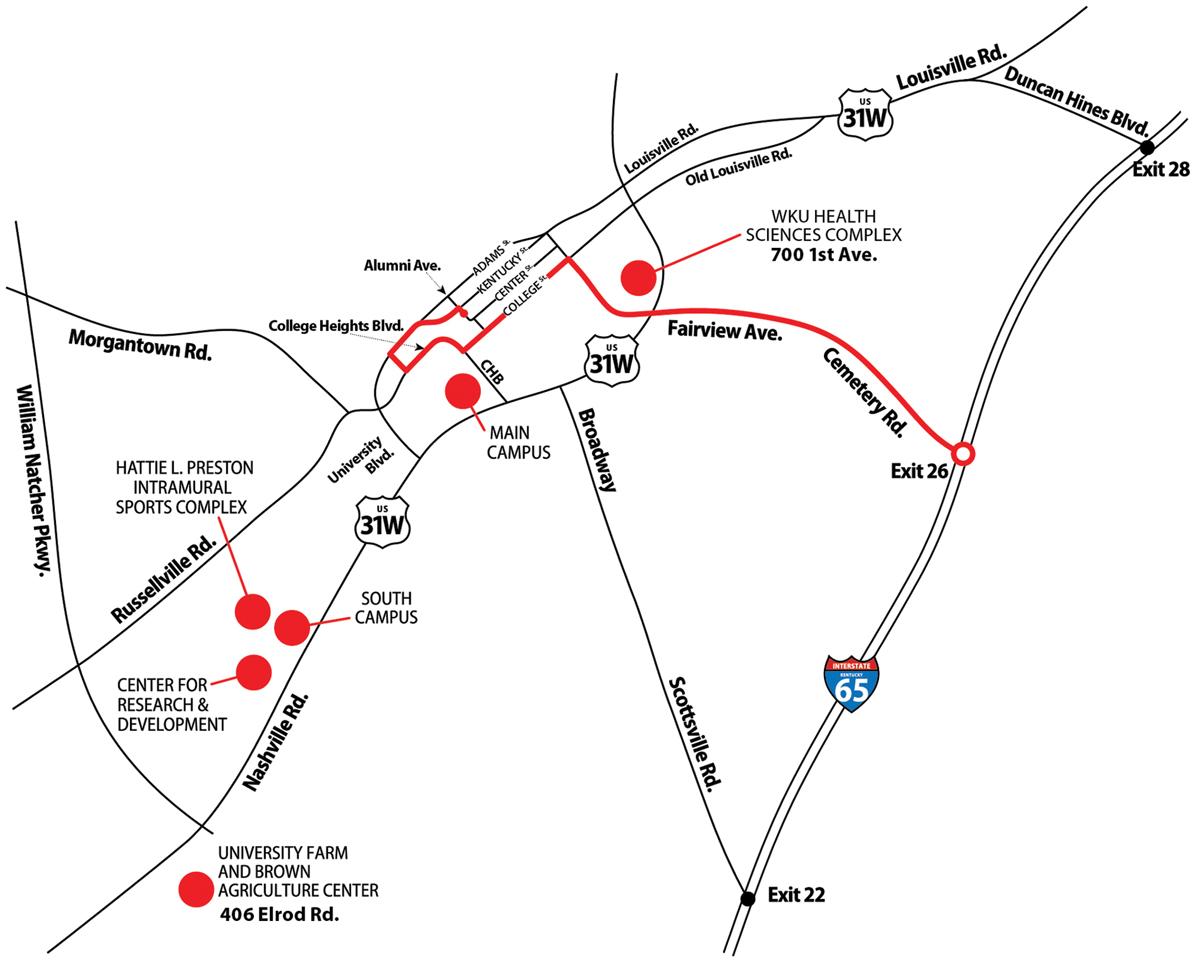 Directions to WKU | Western Kentucky University