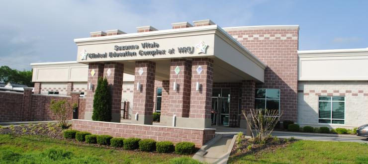 front of the Suzanne Vitale Clinical Education Complex at WKU