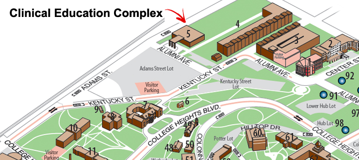 CEC on campus map