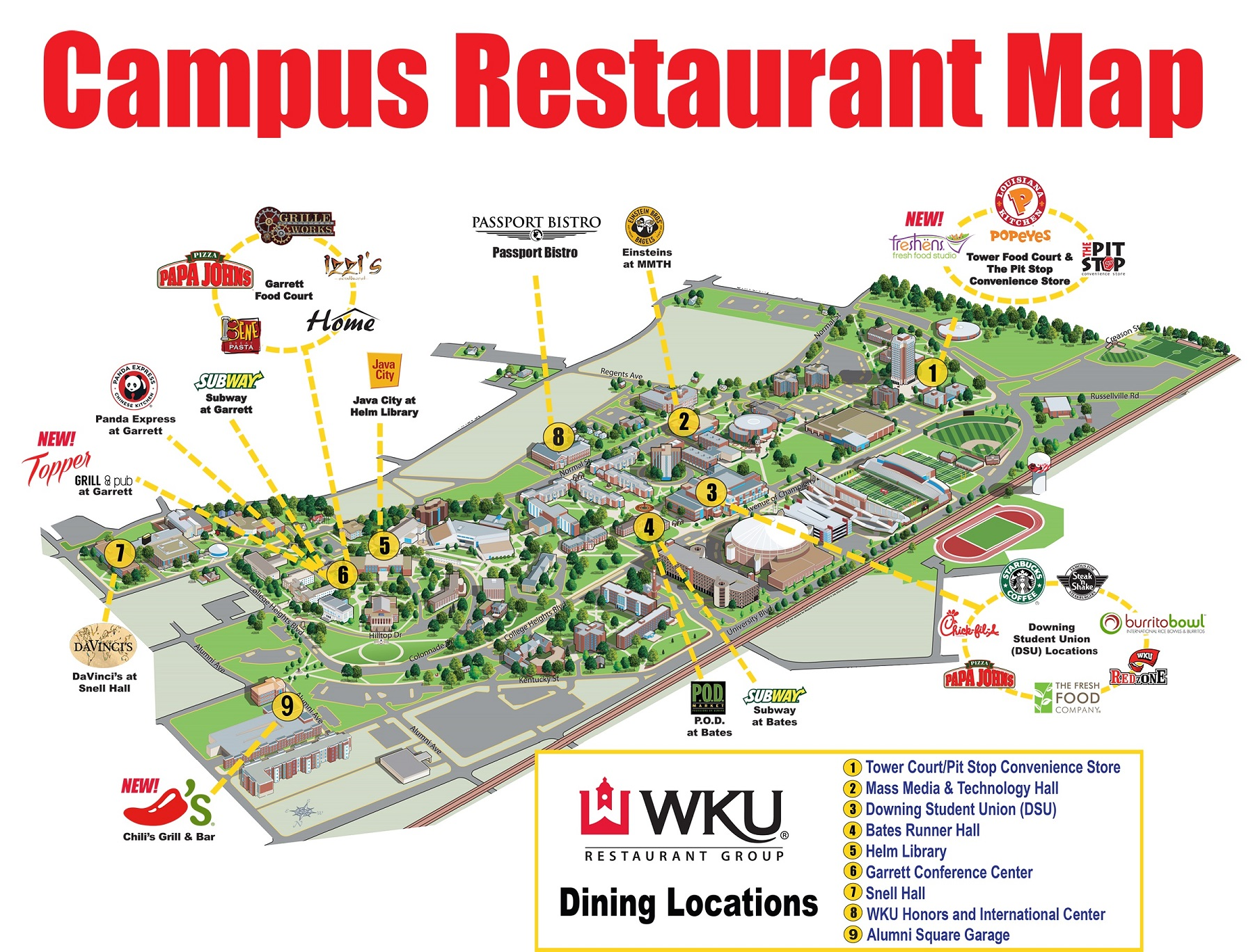 Campus Restaurant Map