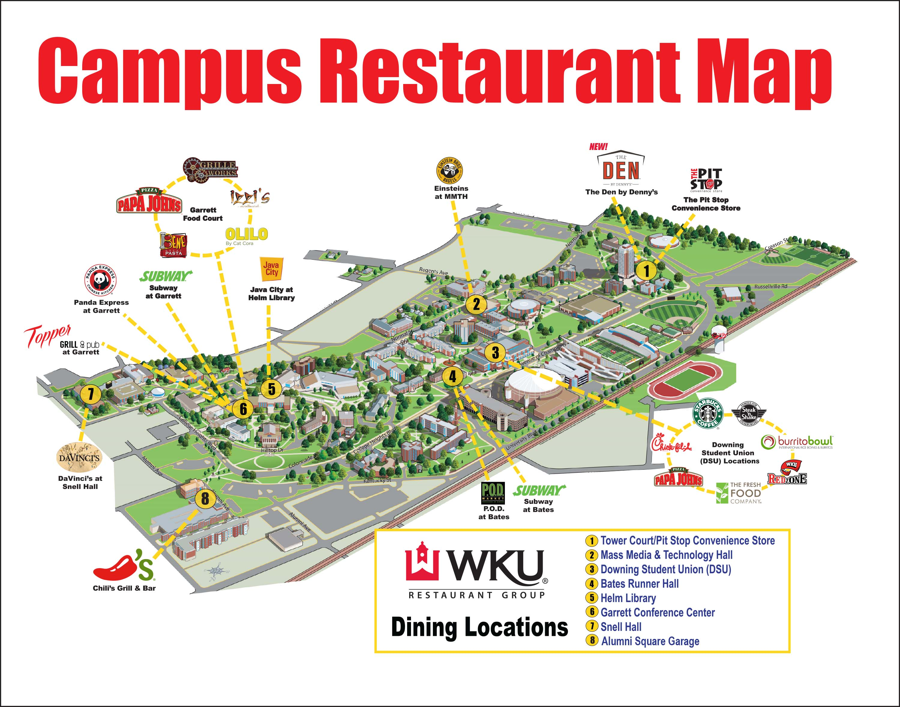 Campusmapjpg - Map of western kentucky