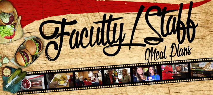 Faculty & Staff meal plan banner