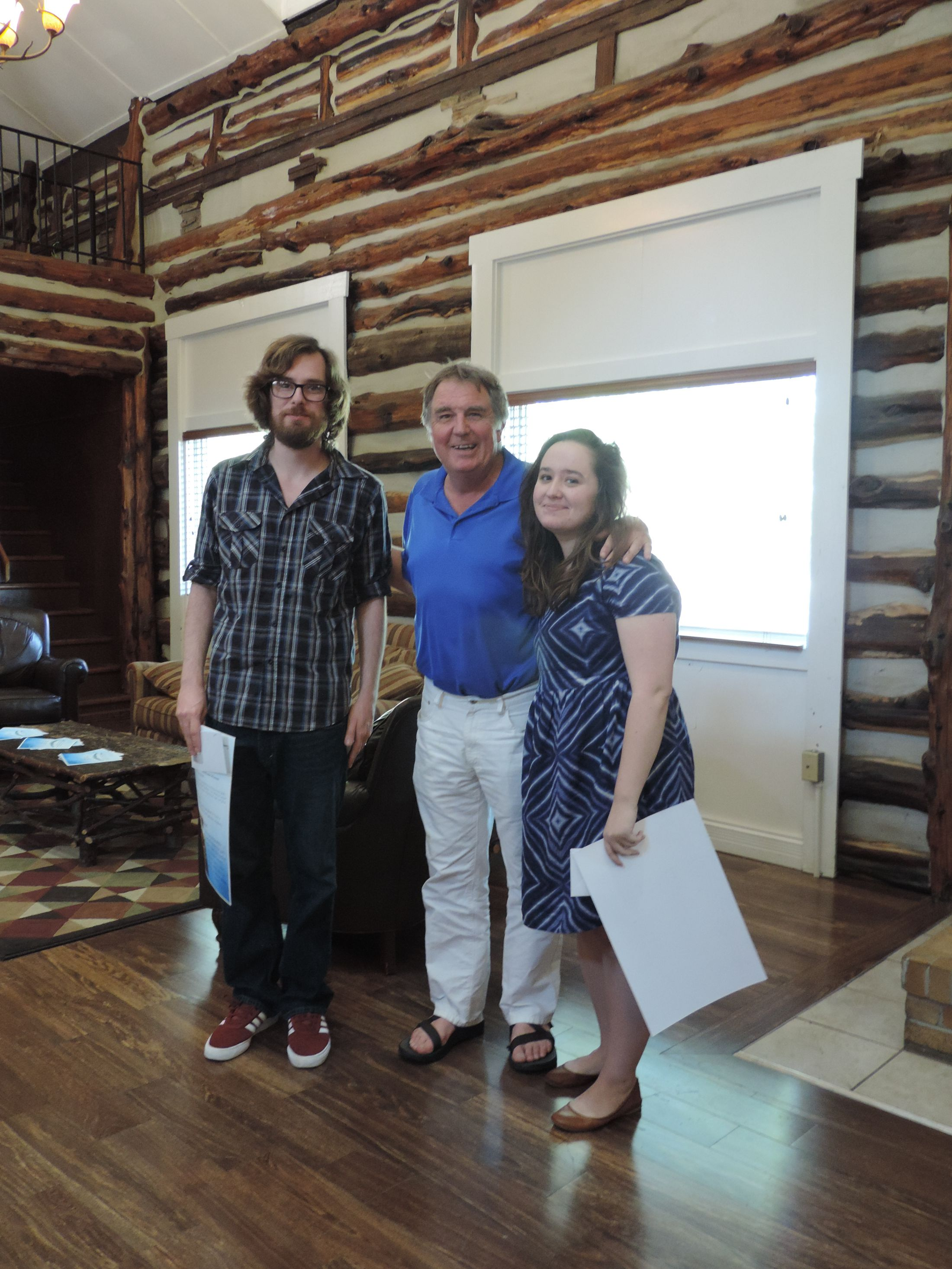 Creative Writing Award winners Clinton Craig and Rachel Sudbeck