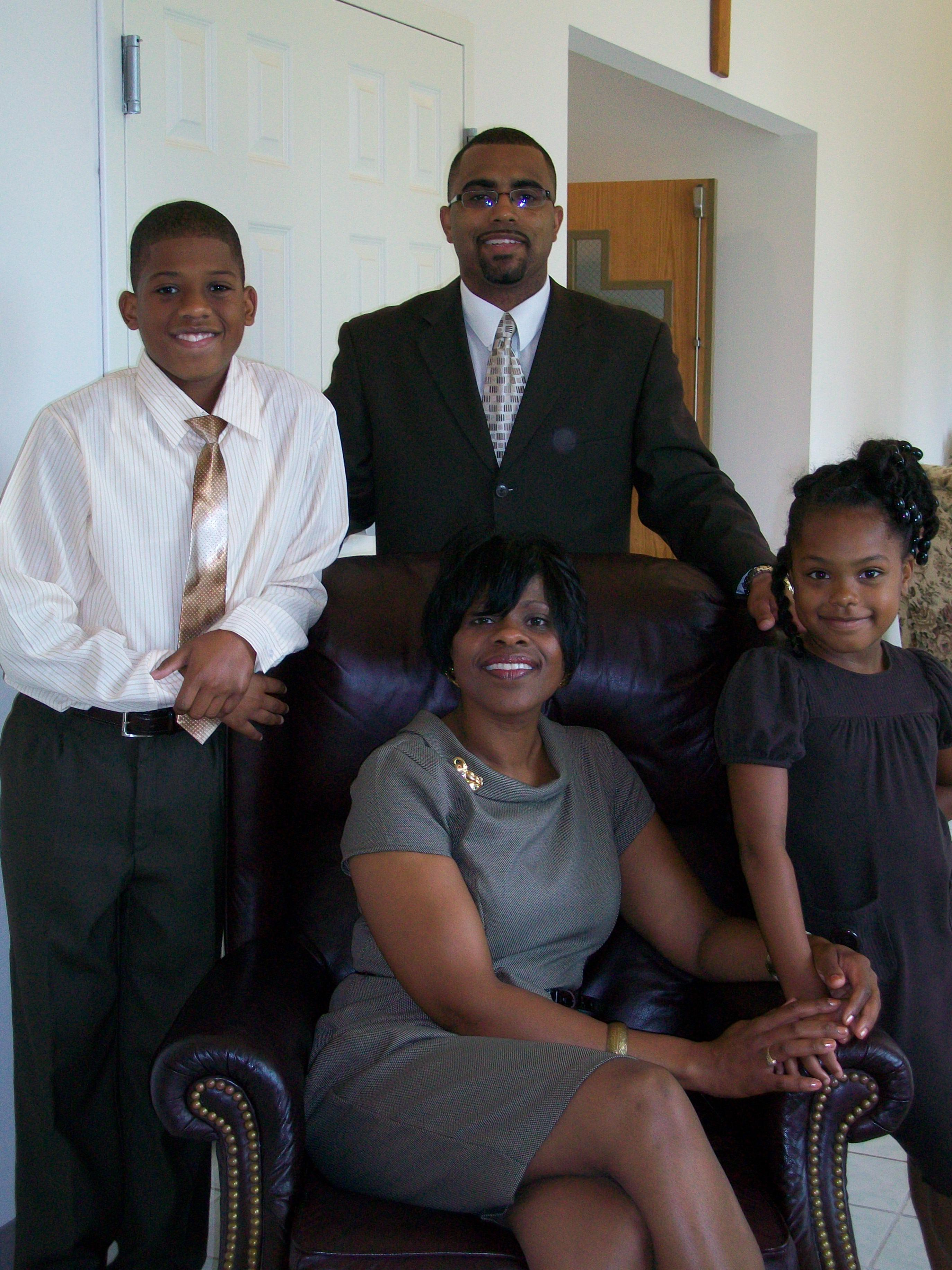 A picture of Martha Sales and family, she is a professor of Gender & Women's Studies