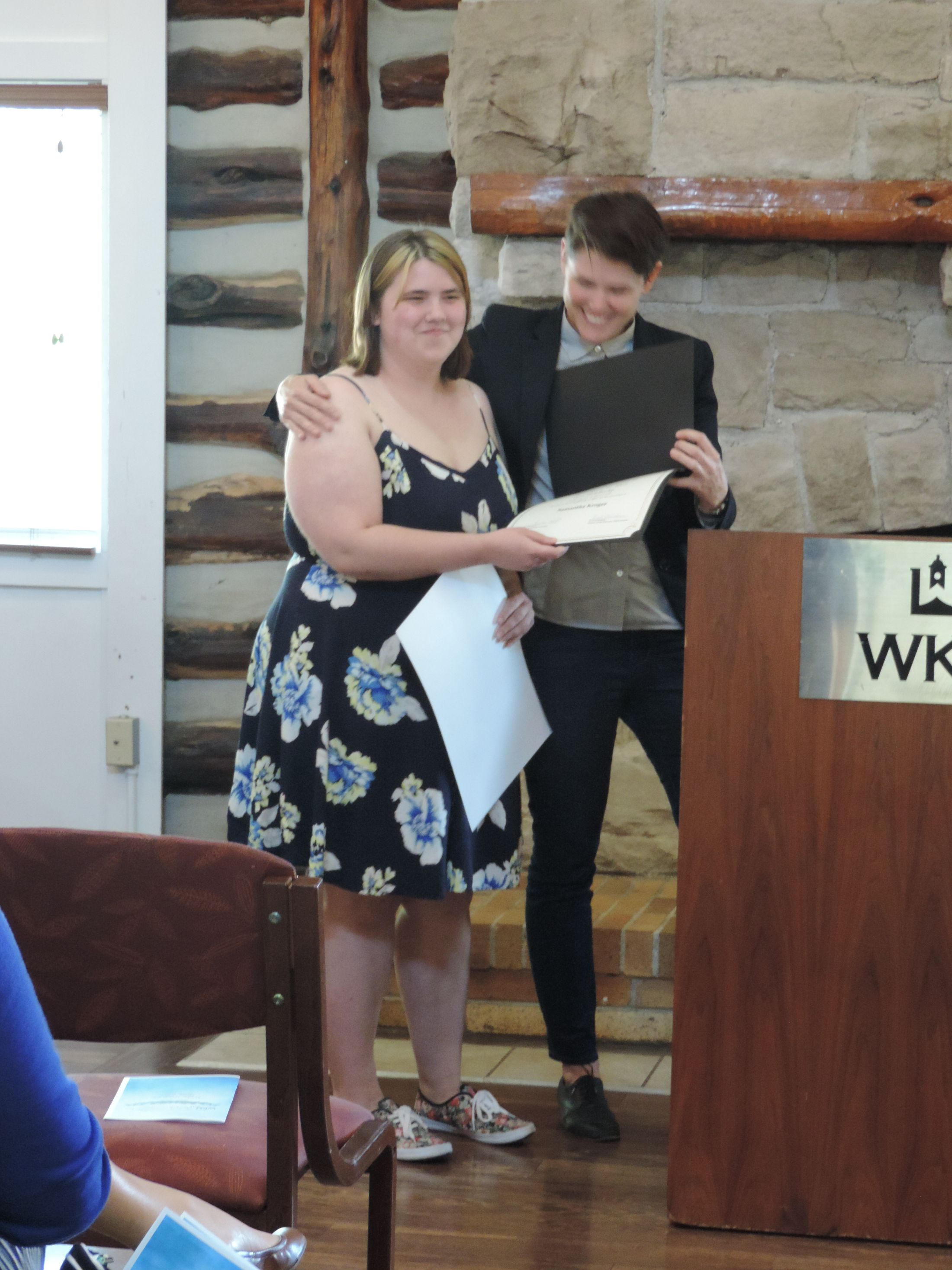 Catherine C. Ward Scholarship winner Samantha Kroger