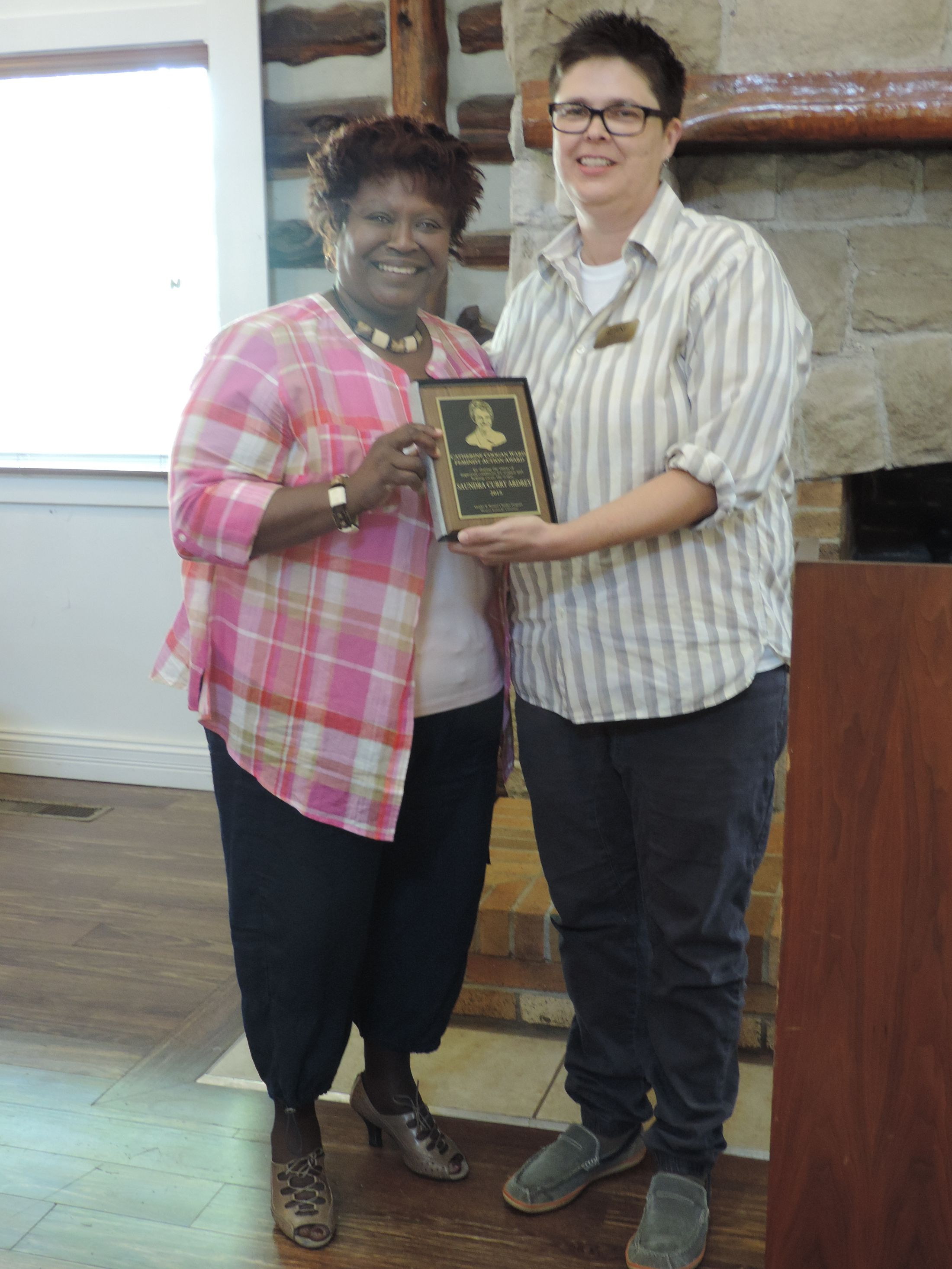 Catherine Ward Coogan Feminist Action Award winner Saundra Curry Ardrey
