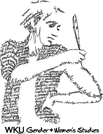 Woman writing herself